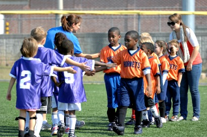 youth sports post-game handshake