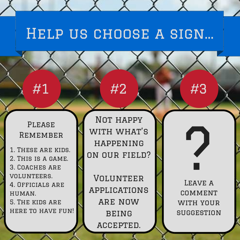 youth sports behavior sign