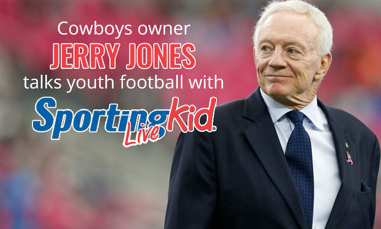 Cowboys owner learned about never giving up as young football player
