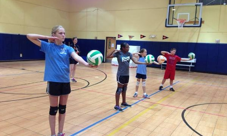Serving up a confidence-building tip for young athletes