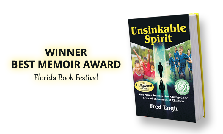 UNSINKABLE SPIRIT earns four prestigious book awards